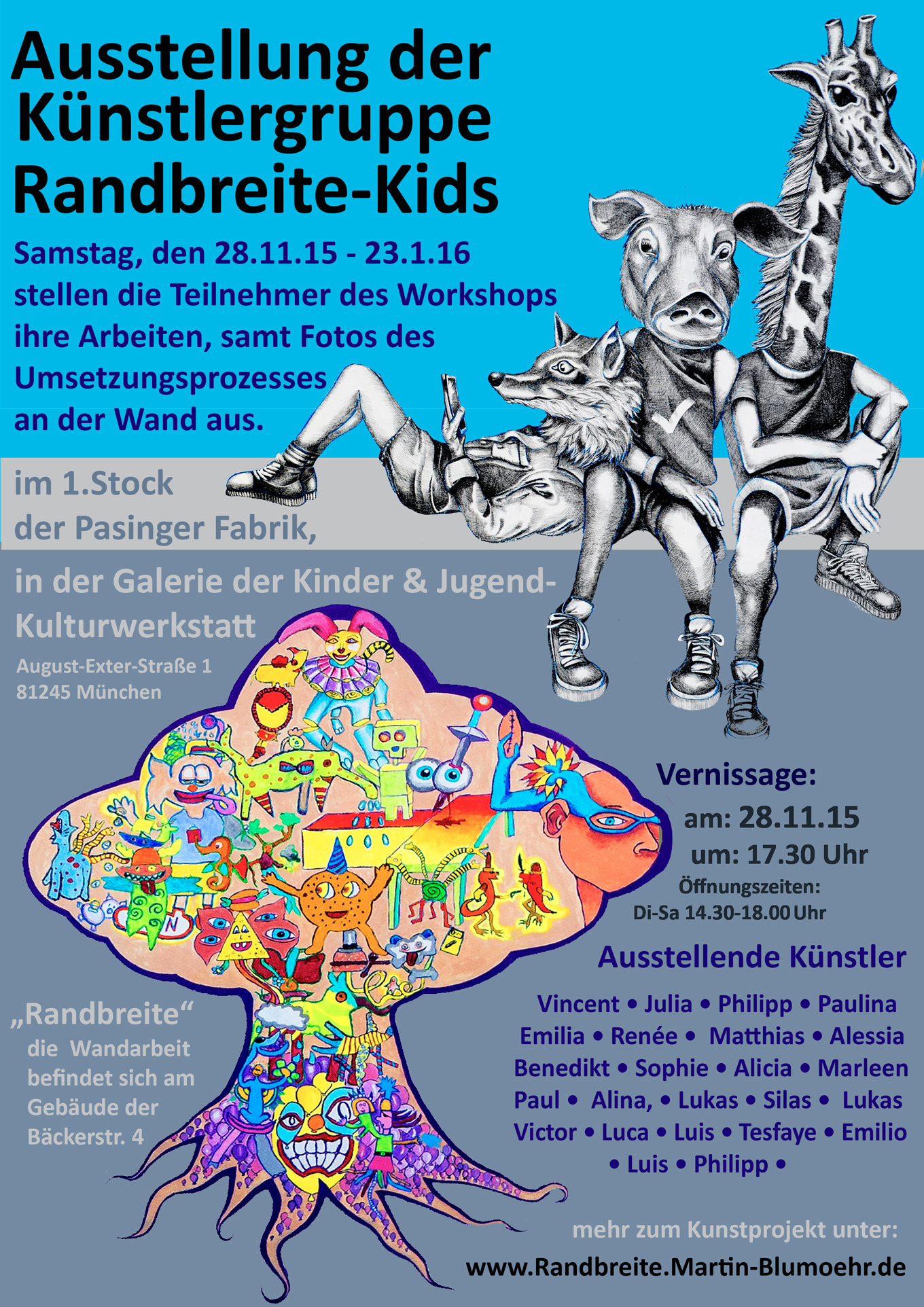 Künstlergruppe-Randbreite-Kids